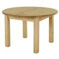 Table ronde pin massif extensible 120cm avec rallonge ...