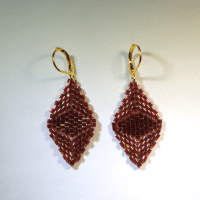 Diamond Cube Earrings - African Sunset