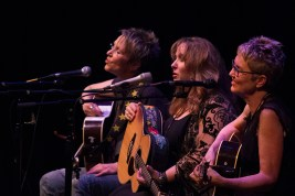 Mary Gauthier, Gretchen Peters, Eliza Gilkyson Freight & Salvage, Berkeley, CA February 18, 2015 photo by Gene Mock
