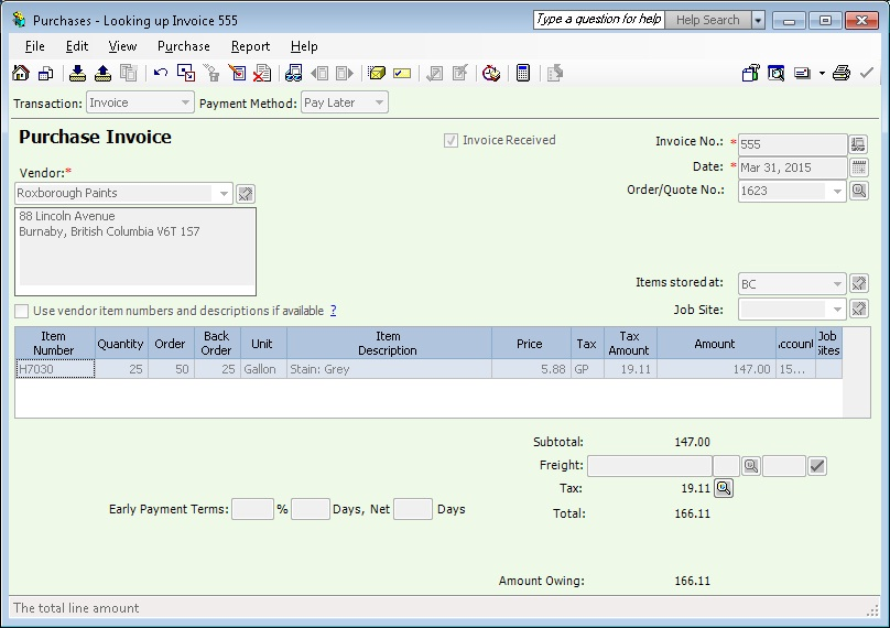 Migrate Purchase Invoice from Sage 50 (CAD) to Sage 300 ERP \u2013 Sage