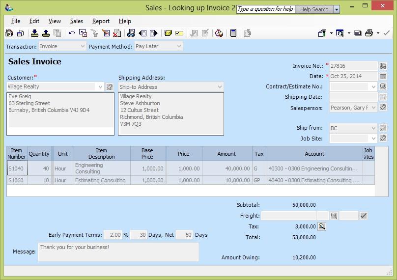 Migrate Sales Invoice from Sage 50 CAD to Sage 300 ERP \u2013 Sage 300