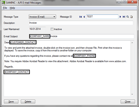How To Send Emails From Oe Invoice To Customer Via Sage 300 Erp