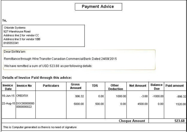 Payment Advice Report \u2013 Sage 300 ERP \u2013 Tips, Tricks and Components