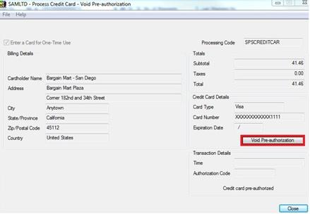 Void Credit Card Pre-authorization \u2013 Sage 300 ERP \u2013 Tips, Tricks and