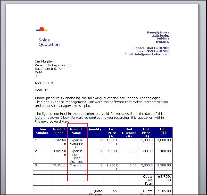 Adding more details to single column of mail merge templates \u2013 Sage - mail merge template