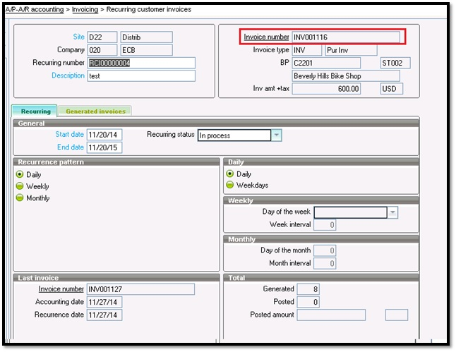 How to Create Recurring Customer BP Invoices - Sage X3 ERP \u2013 Tips - how to create invoices