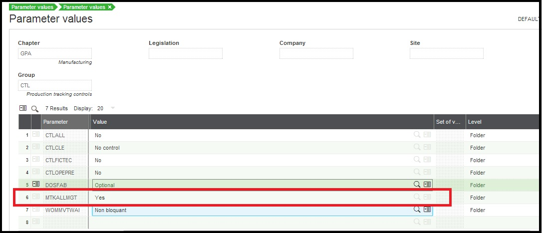 How to restrict production tracking only for allocated work order