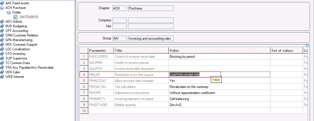 How to restrict purchase invoice creation without purchase receipt - invoice creation