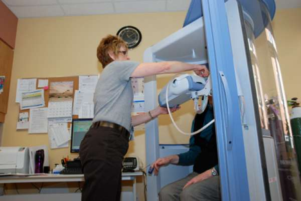 Pulmonary function test at Grand River Hospital
