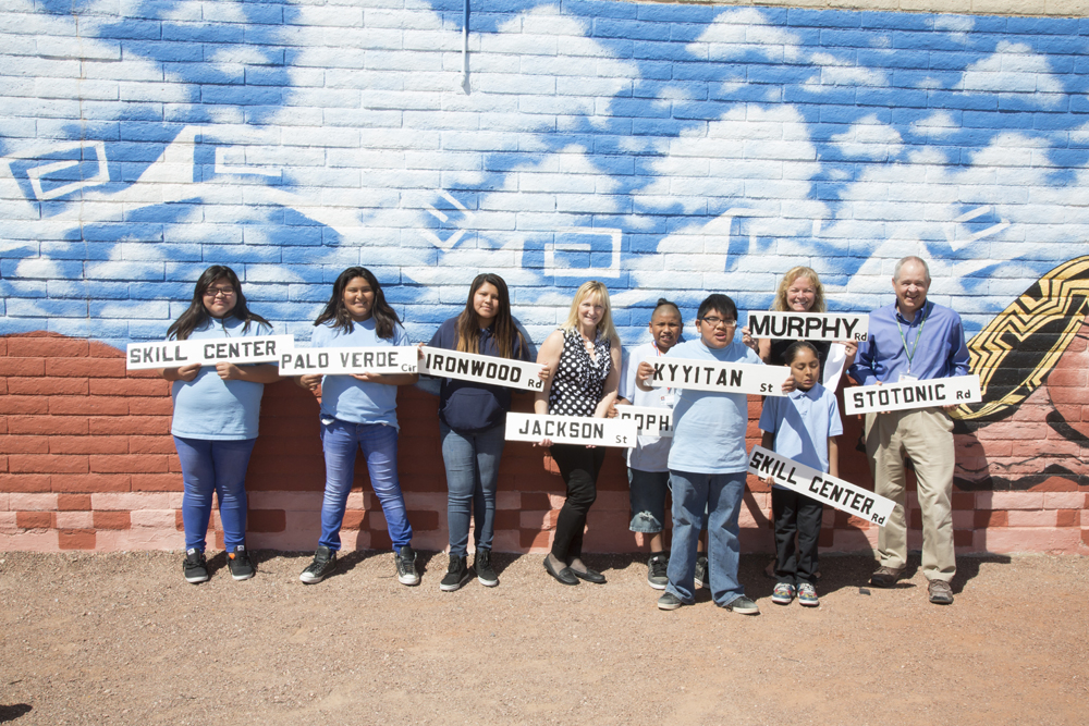 Sacaton students work with GRIC departments to create new street