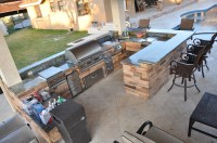 Firemagic Built In BBQ and Gas Fire Pit Custom Built with ...