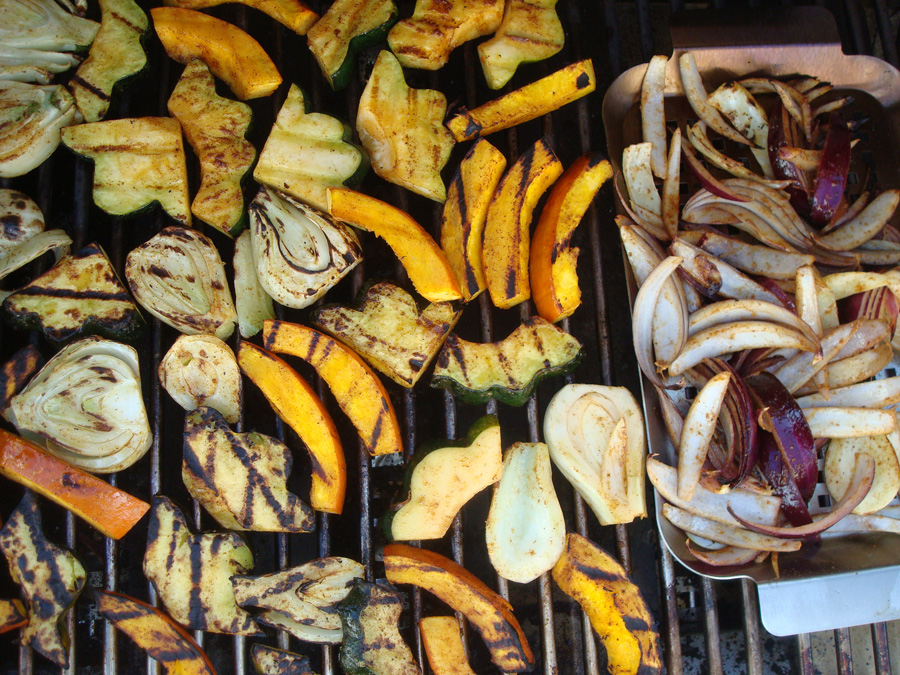 Grilled Winter Squash with Fennel and Warming Spices