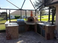 - Outdoor Kitchen with Wood Fired Pizza Oven