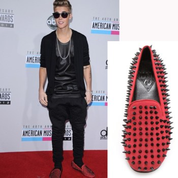 Justin Beiber unif hellraiser flats spiked shoes