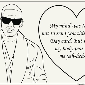R. Kelly Vday Card