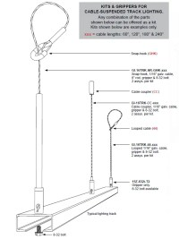 Track Lighting Suspension Kit | Griplock Sytems