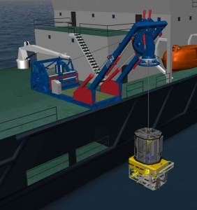 Hawboldt Industries ROV Launch and Recovery System with the Schilling UHD ROV