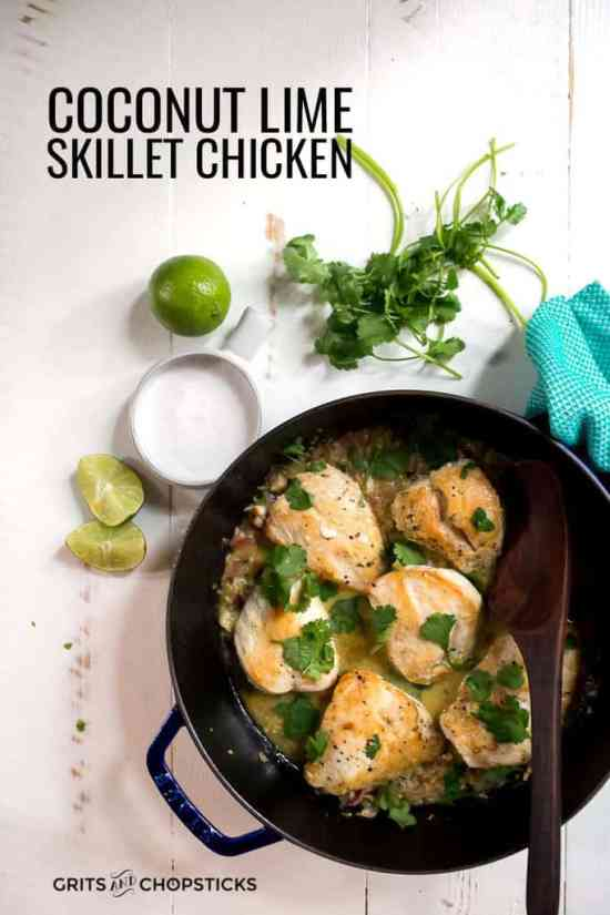 whole30/paleo coconut lime skillet chicken