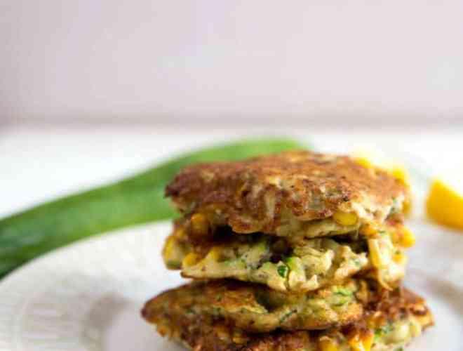 corn and zucchini fritters (gluten free/paleo)