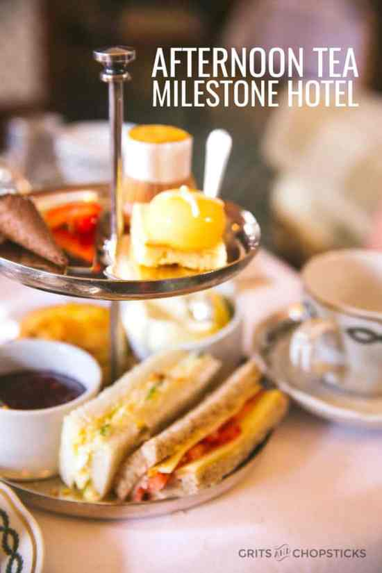Kid-friendly tea at the Milestone Hotel