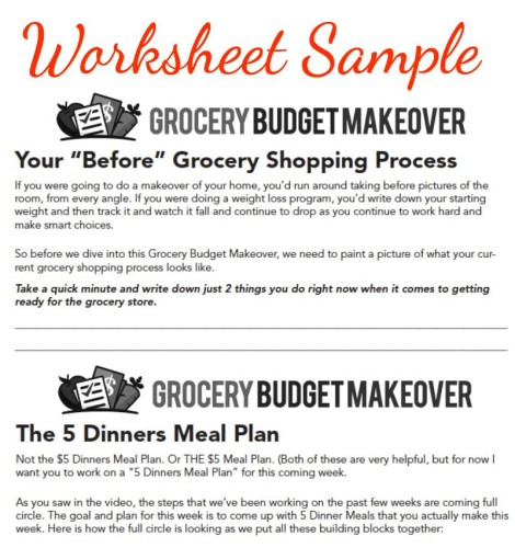 What is the Grocery Budget Makeover?