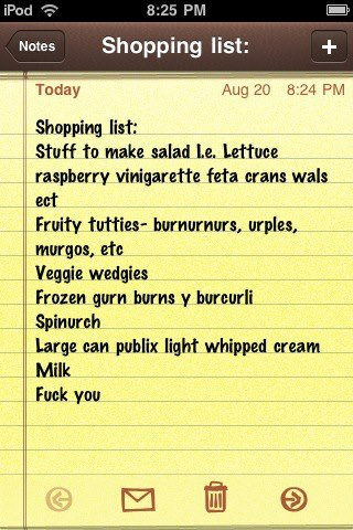 FUNNY The top 10 lists at grocerylistsorg ☠ The Grocery List