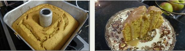 Spiced Pumpkin Pound Cake With Caramel Glaze