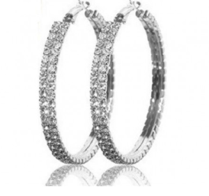 FREE Double Crystal Hoop Earrings With New Sign Up At End Of Retail!