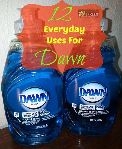 12 Everyday Uses For Dawn Dishwashing Liquid!