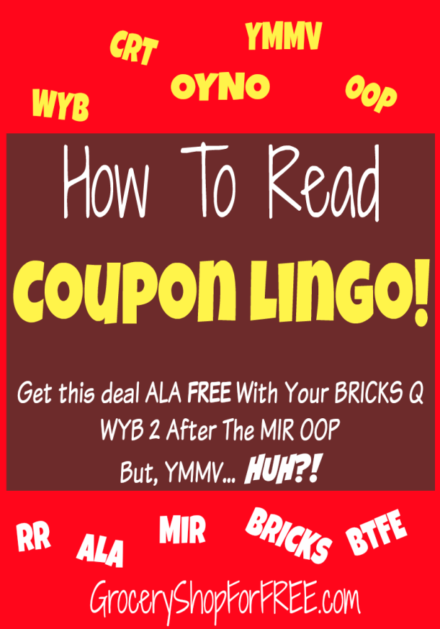 How To Read Coupon Lingo!