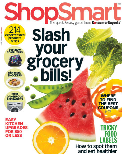 ShopSmart Magazine 1 Year Subscription Only $14.96 (Reg. $49)!