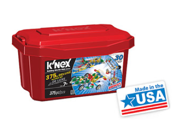 K'NEX 375 Piece Deluxe Value Tub Only $11 + FREE Store Pick Up (Reg. $19.97)!