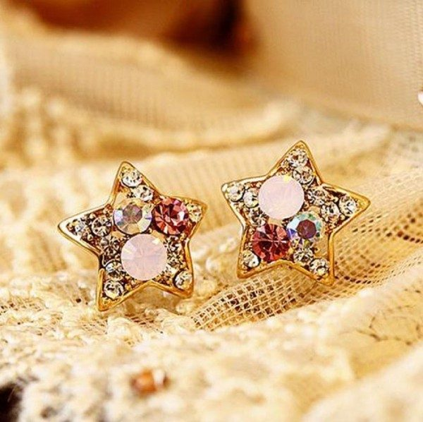 Crystal Star Earrings Only $1.95 SHIPPED!