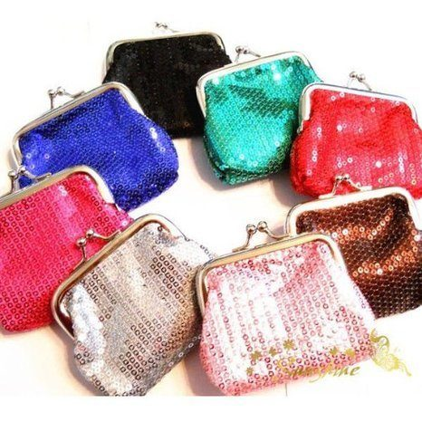 sequin coin purses