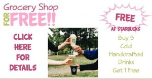 Buy 3 Get 1 FREE Cold Handcrafted Drink at Starbucks!