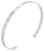 """Sterling Silver """"I Love You to the Moon and Back"""" Cuff Bracelet 7″ Just $20 Down From $100!"""
