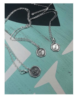 Wax Seal Initial Necklace $9.99 + FREE Shipping (Reg. $16)!