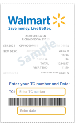 Walmart Savings Catcher Receipt