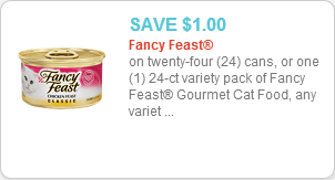 Fancy Feast cat food coupon