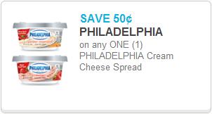 Philadelphia Cream Cheese Coupon