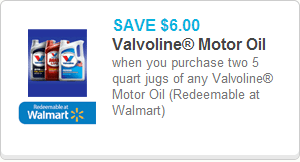 Valvoline Oil Coupon