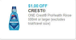 Crest Rinse Coupon