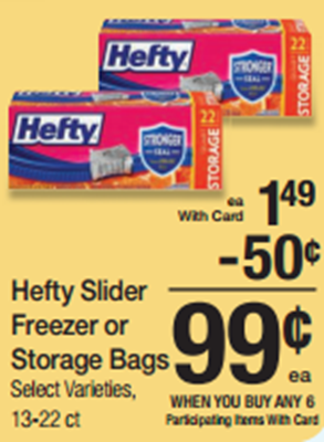 Hefty Slider Bags