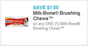 Milk Bone Brushing Chews Coupon