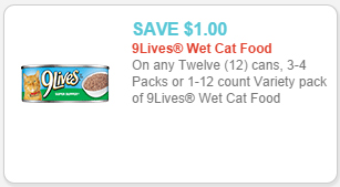 9 lives cat food coupon