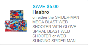 Spider-Man Mega-Blaster Coupon