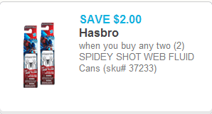 Spidey Shot Web Fluid Coupon