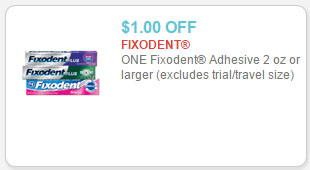 fixodent coupon
