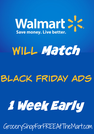 Walmart Will Match Black Friday Ads 1 Week Early