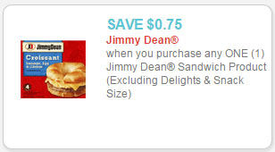 jimmy dean sandwich product coupon